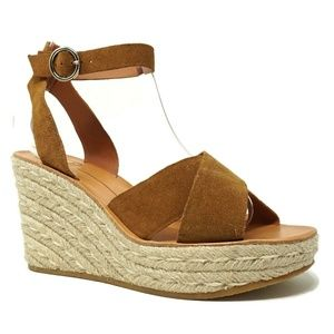 NEW Dolce Vita Pami Cross Band Wedges Size 10